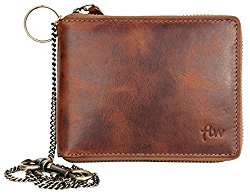 Glazed leather wallet