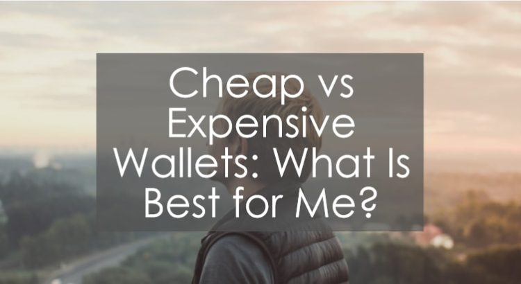 Cheap vs expensive wallets title image to article