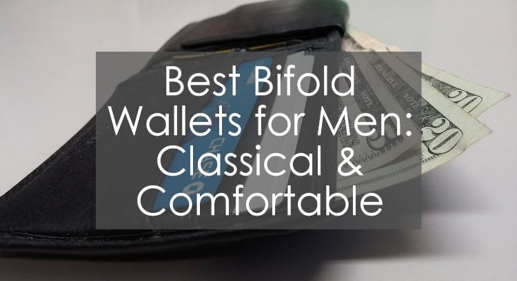 Title image to article presenting the best bifold wallets for men