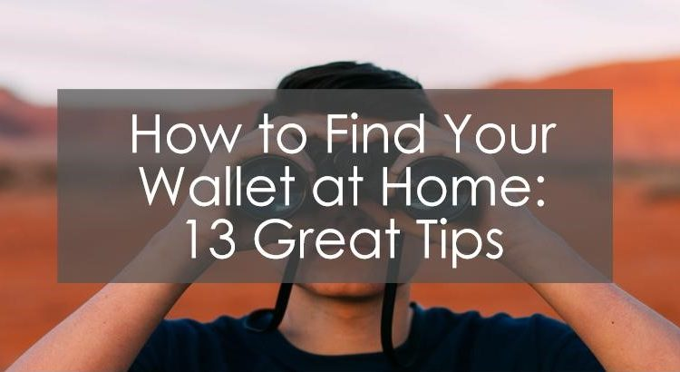 Title image to article how to find your wallet at home