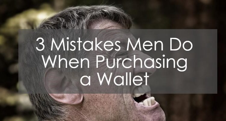 Mistakes purchasing wallet: Title image showing angry man