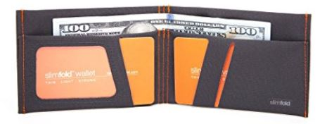 A slimfold wallet from inside